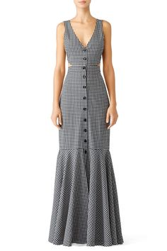 Judith Gingham Maxi by Marissa Webb Abaya Fashion, Fashion Dresses, Rent Dresses, Dress The Population, Sweet Dress, Chic Dress, Casual Dresses For Women, Chic Outfits, Dress Patterns