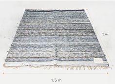 Mooi herontwerp van Nudie Jeans: vloerkleden van oude spijkerbroek