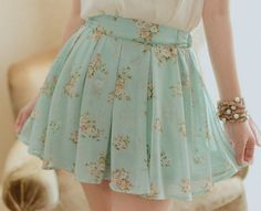 Imagem de skirt, fashion, and flowers