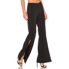 Lovers + Friends x REVOLVE Slash Pants (78.180 CRC) ❤ liked on Polyvore featuring pants, side slit pants, slit pants, wide leg trousers and wide leg pants