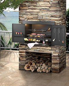 Infiniti Charcoal / Wood Built-in Braai basic Built In Braai, Built In Grill, Built In Charcoal Grill, Parrilla Interior, Gazebos, Diy Grill, Indoor Grill, Outdoor Kitchen Design, Outdoor Living