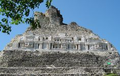 #Xunantunich (Maiden of the Rock) Xunantunich sits atop a hill overlooking the Mopan River and the #Cayo District.