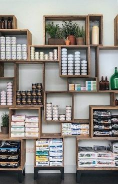 Stacking crates or boxes to create individual display spaces so not everything blends together. Could use in a craft fair booth