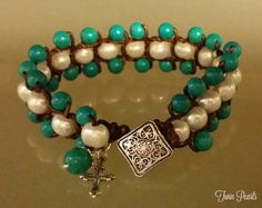 Check out this item in my Etsy shop https://www.etsy.com/listing/255906548/turquoise-freshwater-pearl-bracelet