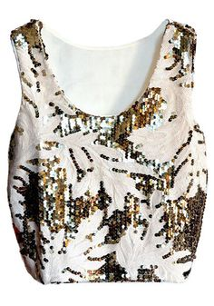 sequins crop tank top: perfect for a party