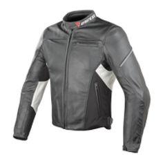 Kurtka DAINESE CAGE PELLE nero/bianco | DAINESE CAGE PELLE Leather Jacket #Motomoda24