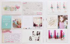 love Annette's dreamy project life spread using Elle's Studio products