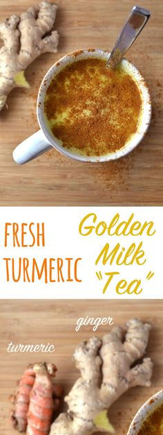 "This comforting ""tea"" kind of tastes like a spicy Chai tea (though you can put in fewer spices if you want a more mild taste). Turmeric has been shown to have many health benefits, including helping with depression, insomnia and arthritis."