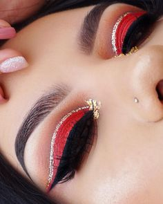 """317 Likes, 7 Comments - C I E R A H (@cierahmua) on Instagram: """" channeling my inner @glambysarai my biggest inspiration @anastasiabeverlyhills dip brow in…"""" #makeupglitter"""