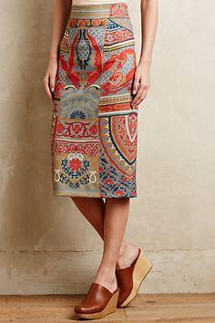 Capivara Pencil Skirt - anthropologie.com