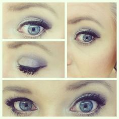 Pink smokey eyeshadow can make blue eyes pop!