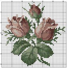 ru / Фото - 19 - saudades - My site Stitch Book, Cross Stitch Rose, Cross Stitch Flowers, Cross Stitching, Cross Stitch Embroidery, Hand Embroidery, Crochet Stitches Patterns, Embroidery Patterns, Cross Stitch Designs