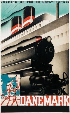 Danemark - chemins de fer de l'état danois - 1930 -
