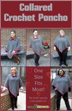 Collared Crochet Poncho - 50 Free Crochet Poncho Patterns for All - Page 5 of 9 - DIY & Crafts