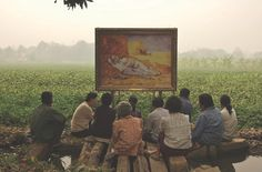 """Thai Artist Araya Rasdjarmrearnsook - 19th Century Paintings with Thai Villagers & Farmers Millet's The Gleaners Renoir's Ball at the Moulin de la Galette Manet's Luncheon on the Grass Van Gogh's The Midday Sleep — """"Araya Rasdjarmrearnsook is Thailand's foremost female artist whose outstanding works often involve female sexuality and identity lies behind the images of death and lament."""""""