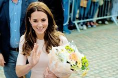 The Duchess of Cambridge meets the crowd in Truro, United Kingdom. September 01, 2016