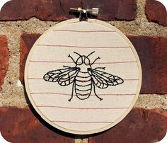 The Humble Bee Embroidery Hoop Art by TheHumbleCarnival on Etsy. $20.00 USD, via Etsy.