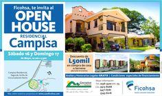 Te invitamos al gran Open House en Campisa Residencial con  Banco Ficohsa