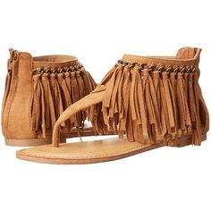 Not Rated Keep The Peace (Tan) Women's Sandals ($26) ❤ liked on Polyvore featuring shoes, sandals, tan, bohemian style shoes, peace sign sandals, fringe sandals, boho style shoes and tan shoes