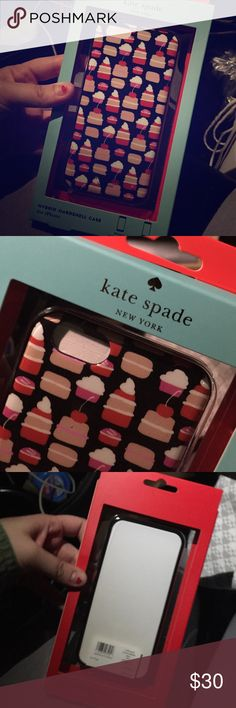 BNWT kate spade iPhone 6/6s Case--price firm 💕Cute mini pastry hybrid case. Never even opened. *price firm* ❤️Bundle&Save EVEN w/shipping still cheaper then buying outright so PRICE FIRM kate spade Accessories Phone Cases