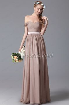 eDressit Simple Off Shoulder Bridesmaid Dress Evening Dress (07150546)