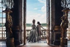 The Chateau de Versailles authorizes the first photoshoot in 25 years. Kirsten Dunst, star of Marie Antoinette, wears gowns by modern designers Alexander McQueen, Dior and others in this photoshoot for Vogue. Photographs by Annie Leibovitz, 2005