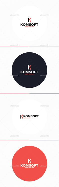 Kom Soft Logo • Letter K — Photoshop PSD #internet #solution • Available here → https://graphicriver.net/item/kom-soft-logo-letter-k/10738735?ref=pxcr