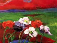 Poppies and Red Evening Clouds Emil Nolde - 1949