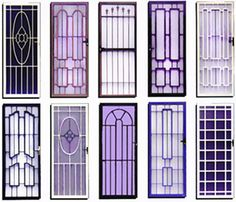 house window grill colour