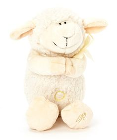 Take a look at this Cream Praying Lamb Musical Plush Toy by Stephan Baby on #zulily today!