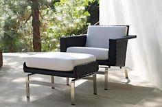 Avenue Armchair & Ottoman   Gloster Furniture