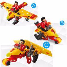 Kid Boy Girls Plane Minifigure Educational Assembled Toys Building Blocks Bricks #Unbranded
