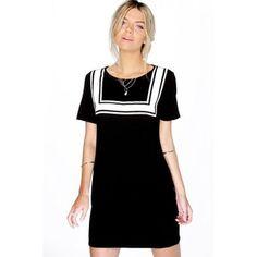 Boohoo Leanne Bib Print T-Shirt Dress