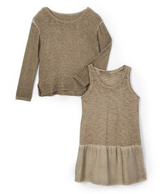 Another great find on #zulily! Brown Silk-Blend Marina Dress - Toddler & Girls #zulilyfinds