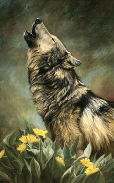 howling wolf ~ Call of the Wild by Lucie Bilodeau