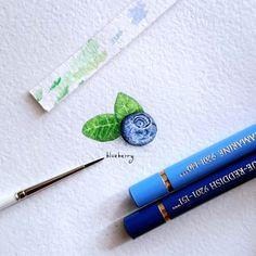One more from my #TinyPiecesOfLife project  #blueberry (20x27mm)  #акварель #творчество #миниатюра #минимализм #черника #ягоды #иллюстрация #вдохновение #art #inspiration #food #delish #miniature #watercolor #berry #berries #nature #botanical #illustration #painting #minimalism #instaart #creative #healthyfood #rawfoods