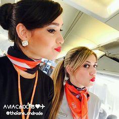 Comissárias lindas Thaiane e Kell, muito charme! Sucesso meninas ❤✈ #crewlife #future #flightattendant #aeromoças #aeromoça #voar #comissarias #comissáriadebordo #golinhasaereas #stewardess #fly #revistatripulante #aero #tripulantes #aviacaocms #comissariasdevoo #gol #golmais #voegol #cabincrew