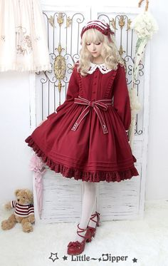 Little Dipper -The Cat Who Wants to Reach for the Stars- Embroidery Collar Lolita OP Dress