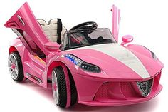 2018 Ferrari Spider GT Style Ride On Motorized Kids Toy Cars Powered Wheels W/ Remote, Leather Seat, LED Lights to 4 Years (Standard), Pink) >>> Learn more by visiting the image link. (This is an affiliate link) Toy Cars For Kids, Toys For Girls, Kids Toys, Little Girl Toys, Little Girls, Dango Peluche, Ferrari Spider, Princess Toys, Princess Style