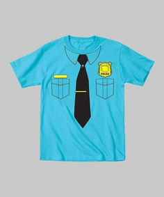 Take a look at this Turquoise Police Officer Bodysuit - Toddler & Kids on zulily today!
