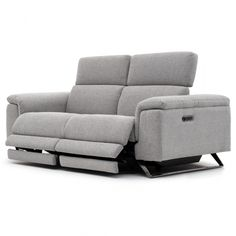 Sit back in total comfort in this reclining loveseat with adjustable headrests and footrests. Leather Reclining Loveseat, Leather Sofa, Structure Metal, Sit Back, Modern Sofa, Foot Rest, Sofa Design, Decoration, Recliner