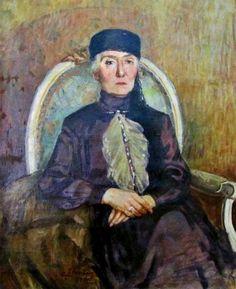 Paintings by İbrahim Çallı - Aliye Moralı portresi.Cimcoz ailesi tarafından Ankara Resim ve Heykel müzesine bağışlanmıştır.
