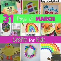 It's that time of the month again!  I've been getting ready for March with the daycare kids and I have lots of crafts and activities to shar...