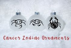 Cancer Horoscope,   Zodiac Ornaments, Christmas Ornaments, Horoscope Ornaments, Zodiac gift, Gift for her, Cancer Gift, Crab Ornaments by CnCCreationz on Etsy White Ornaments, Glass Ornaments, Cancer Horoscope, Zodiac Cancer, Cancer Facts, Personalized Ornaments, Etsy Handmade, Teacher Gifts, Gifts For Her