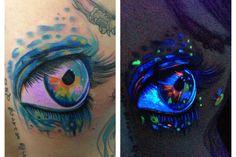 Uv tattoo. Get the world in her eye