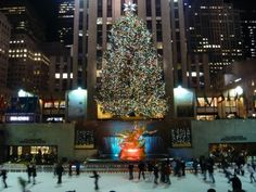 Rockerfeller Plaza, New York City, NY, USA.  Anyone visiting New York City in the winter absolutely must skate at the Rock rink.  It's as romantic as the movies portray it to be!