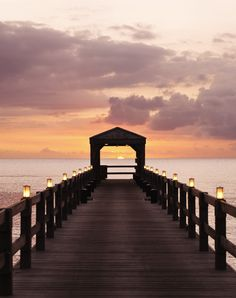 Presenting the perfect pier for a sunset stroll, at @Four Seasons Resort Nevis, West Indies