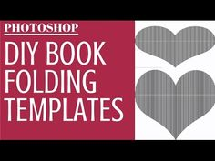 Make Book Fold Templates in Photoshop - Turn any image or text into a fo...