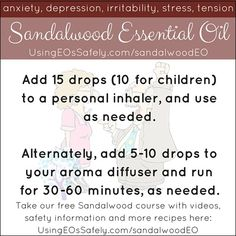 Using Sandalwood Essential Oil Safely Sandalwood Essential Oil, Essential Oils, Graduate Program, Aroma Diffuser, Aromatherapy, Natural Remedies, Stress, Essentials, Eos