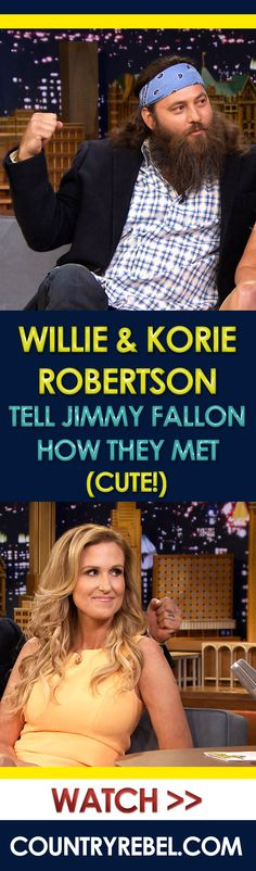 Willie and Korie Robertson Tell Jimmy Fallon How They Met (Cute!)